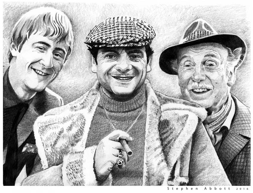 David Jason, Nicholas Lyndhurst, Lennard Pearce by StephenAbbott